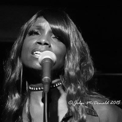 rhonda cougar singing on mic