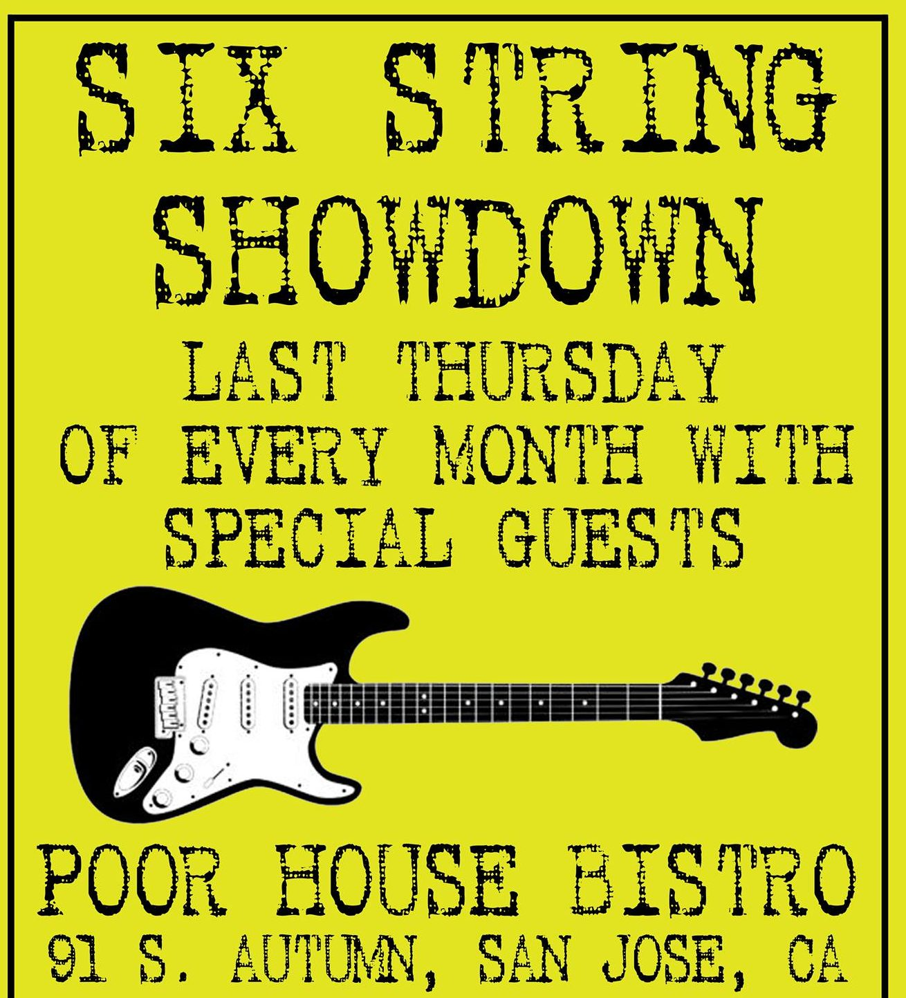 six string showdown flyer